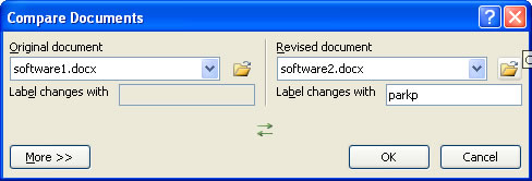Compare Documents in Word