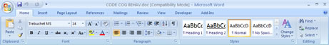 Microsoft Word 2007 - Compatibility Mode